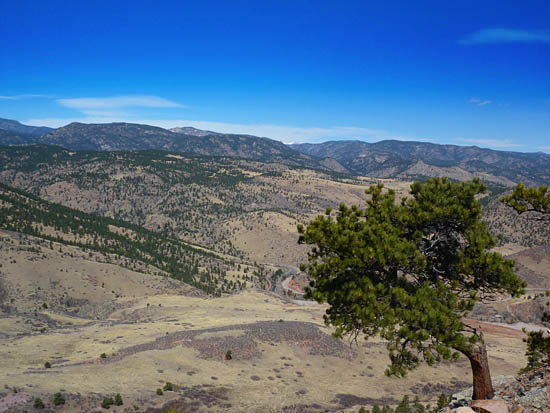 Views over St Vrain Canyon and the Hall Ranch area from the Wild Turkey Trail
