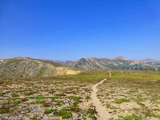 The Continental Divide Trail leading to Stanley Mountain