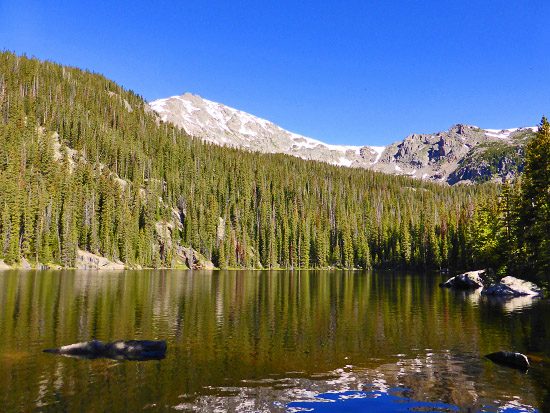 Whitney Lake (10,956') and Whitney Peak (13,271')